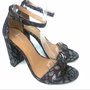 Beautiful Burgundy & Metallic Silver Merona Heels